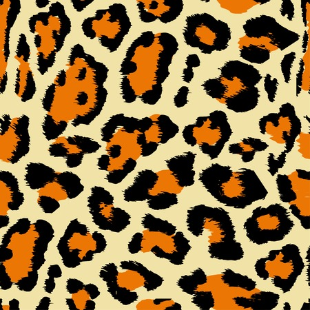 leather coat: Vector Illustration of Leopard Print Seamless Pattern. Wild texture for Design, Website, Background, Banner. Jaguar Template. Natura Wallpaper
