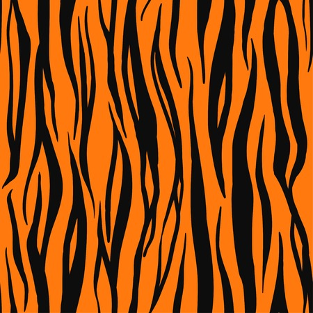 Vector Illustration of Tiger Print Seamless Pattern. Wild texture for Design, Website, Background, Banner. Zebra Template. Nature Wallpaper