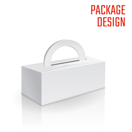 paperboard packaging: Illustration of Clear Craft Box for Design, Website, Background, Banner. Retail Folding package Template. Fold pack Blank for your brand on it