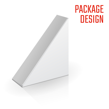 paperboard packaging: Vector Illustration of Clear Craft Box for Design, Website, Background, Banner. Retail Folding package Template. Fold pack Blank for your brand on it
