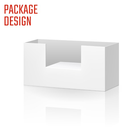 ardboard: Vector Illustration of Clear Craft Box for Design, Website, Background, Banner. Retail Folding package Template. Fold pack Blank for your brand on it