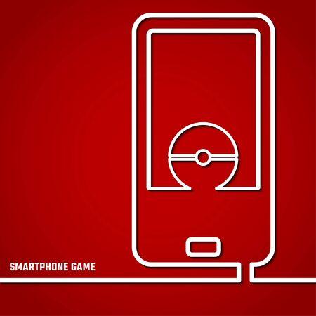 Vector Illustration of Smartphone Game  for Design, Website, Background, Banner. Digital concept Element Template