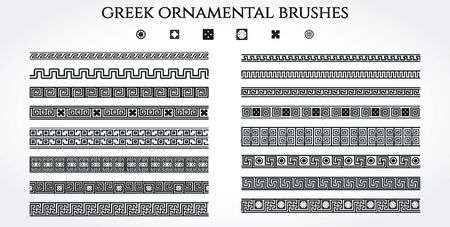 national border: Vector Illustration of Greek Ornamental Border for Design, Website, Background, Banner. Use National Element in Invitation or Brend Style Template