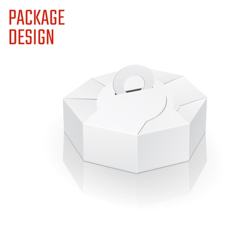 diecut: Vector Illustration of Diecut Craft Box for Design.  Retail Folding package Template