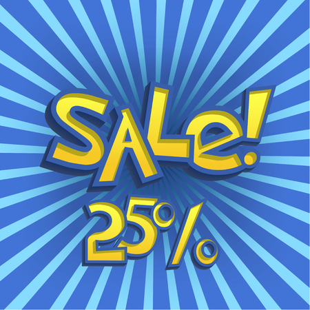 Vector Illustration of Cartoon Sale Offer for Design, Website, Background, Banner. Discount Element Template Illustration