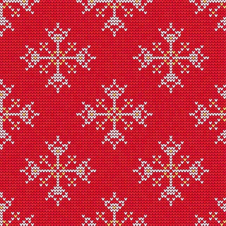 Vector Illustration of Knitted Sweater Seamless Pattern for Design, Website, Background, Banner. Christmas Ornament for Wallpaper or Textile. Norwegian Texture Template Illustration