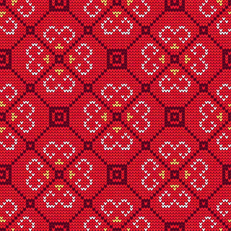 vector vector illustration of knitted sweater seamless pattern for design website background banner christmas ornament for wallpaper or textile - Christmas Sweater Wallpaper