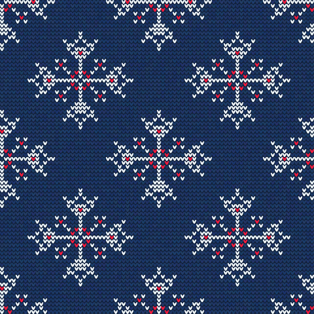 norwegian: Vector Illustration of Knitted Sweater Seamless Pattern for Design, Website, Background, Banner. Christmas Ornament for Wallpaper or Textile. Norwegian Texture Template Illustration