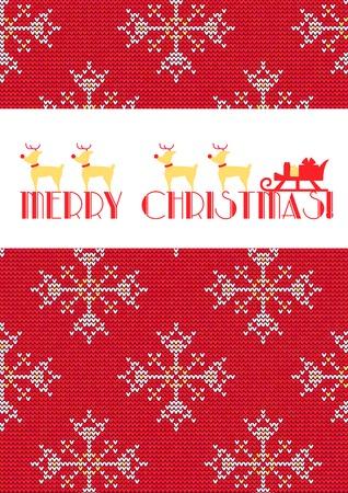 Vector illustratie van gebreide trui wenskaart voor ontwerp, Website, achtergrond, Banner. Kerstmis Template Flyer. Winter Poster. Vector Illustratie