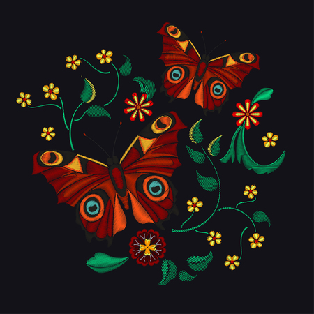 Embroidery Pattern for Design Illustration