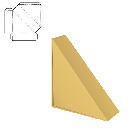 Folding Pack 3d vector illustration