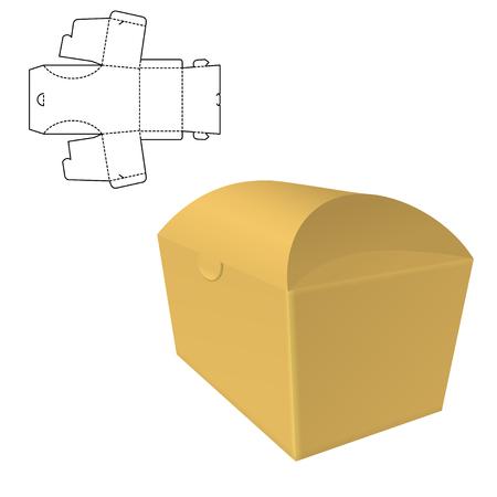 Folding package Template 版權商用圖片 - 102088915