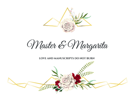 Roses Wedding Invitation Card for Design