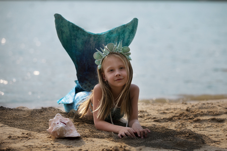 The Little Mermaid on the beach Stok Fotoğraf