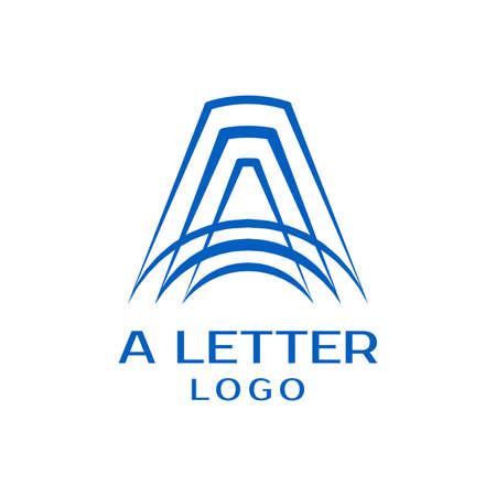 Letter A logo design vector template Logo