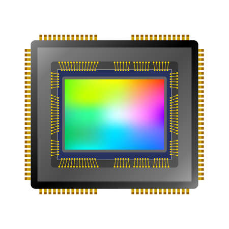 Capteur d'image CCD CMOS Vector.