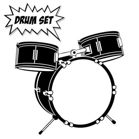 Schlagzeugset mit Basic 3-tlg.