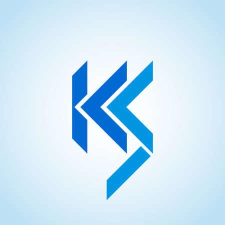 KS, ICS or LCS company logo vector template.