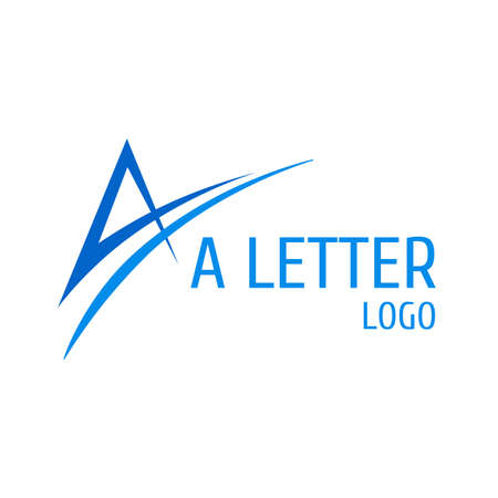 Letter A Logo with Swoosh. Logo