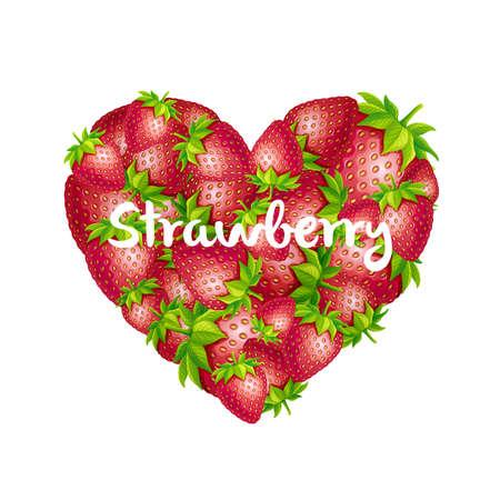 Strawberry heart illustration