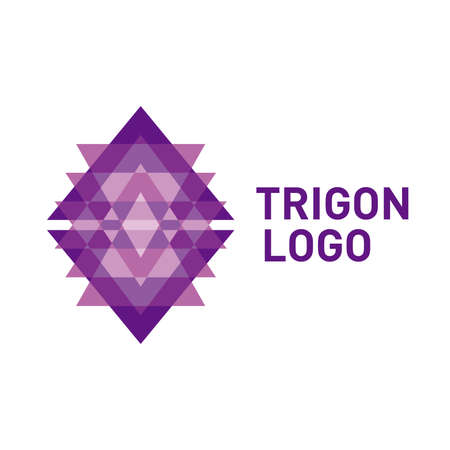 Triangle logo icon.