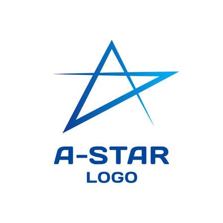 Modello astratto di logo di vettore della stella. Logo