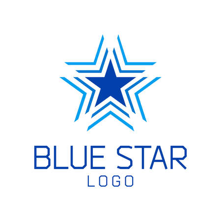 Abstract star vector logo template.