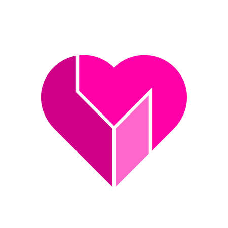 Vector heart illustration. Stock Illustratie