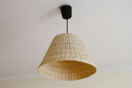 Wicker light lamp