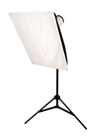 Studio lighting with softbox on the white background photo