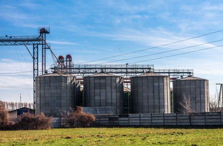 Agricultural silo against blue sky Stock Photo - 18369674