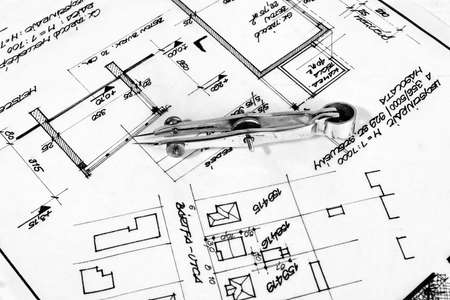 Industrial blueprints closeup photo Stock Photo - 22758992