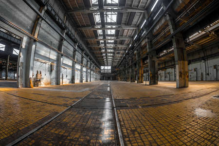 Large industrial interior in a cool style Stock Photo - 22758887