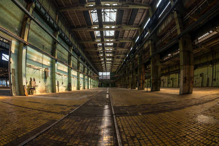 Large industrial interior in a cool style photo