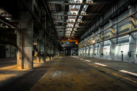 Large industrial interior in a cool style Stock Photo - 22758847