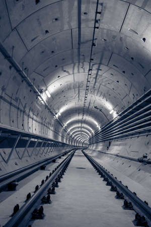 rapid steel: Deep metro tunnel under construction