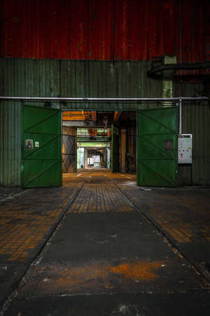 Big industrial door closeup photo