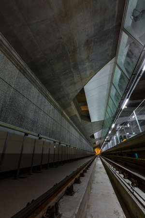 end of the trail: Deep metro tunnel under construction