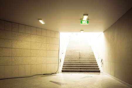 Modern building interior with stairs photo