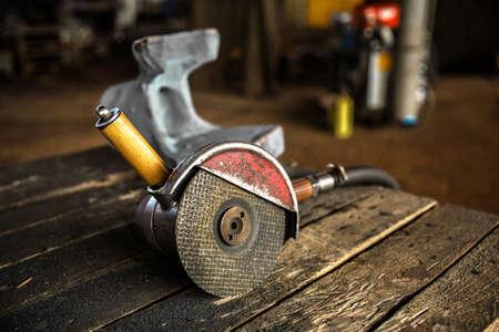 grinder machine: Industrial grinder machine close up