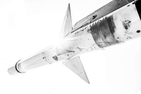 aerial bomb: Fighter missile close up photo