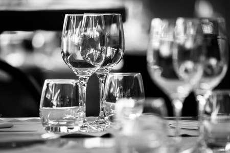 fine silver: Elegant table set Stock Photo