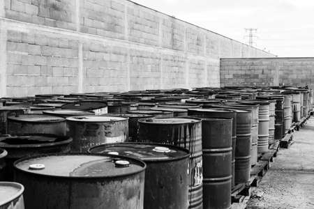 Several barrels of toxic photo