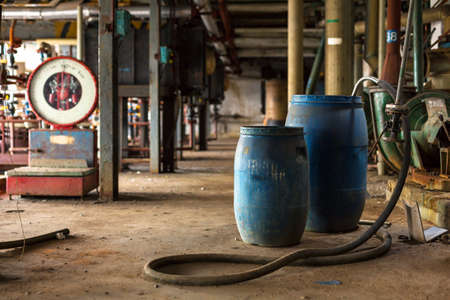 Industrial interior with chemical tanks Stok Fotoğraf