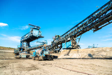 Mining machinery in the mine photo