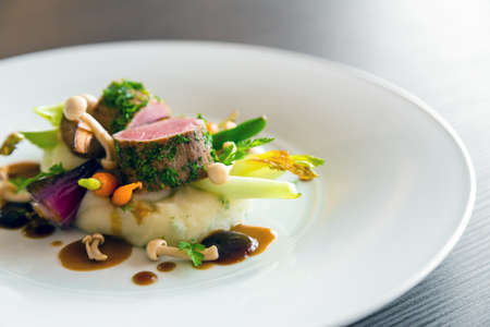 gourmet food: Delicious gourmet food Stock Photo