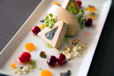 sauternes: Delicious gourmet food Stock Photo