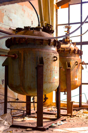 storage tank: Industrial interior with storage tank