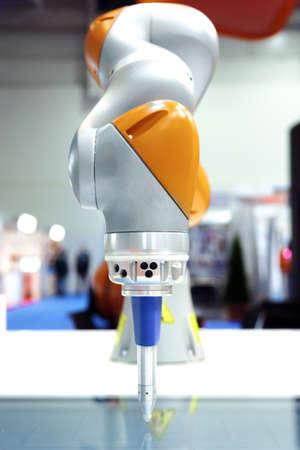 Industrial robot arm photo