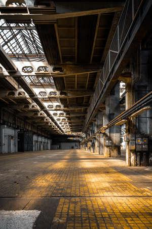 Dark industrial interior